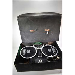 """Antique """"The Ace American Projecting Company"""" reel to reel film projector, model A, serial no. 41 wi"""