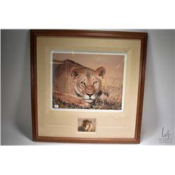 """Framed limited edition print titled """"Lady in Waiting"""" pencil signed by artist David N. Kitler II/X f"""