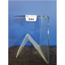 ABSTRACT GLASS SIDE TABLE