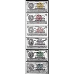 Set of (6) 1933 Ringling Bros Show Scrip Notes