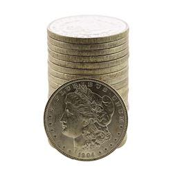 Roll of (20) Brilliant Uncirculated 1904-O $1 Morgan Silver Dollar Coins