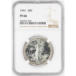 1941 Proof Walking Liberty Half Dollar Coin NGC PF66