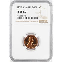 1970-S Small Date Proof Lincoln Cent Coin NGC PF65RD
