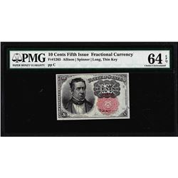 1874 10 Cent Fifth Issue Fractional Currency Note Fr.1265 PMG Choice Uncirculated 64EPQ