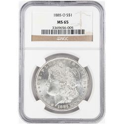 1885-O $1 Morgan Silver Dollar Coin NGC MS65