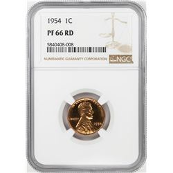 1954 Proof Lincoln Wheat Cent Coin NGC PF66RD