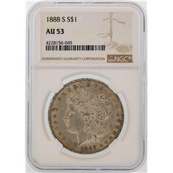 1888-S $1 Morgan Silver Dollar Coin NGC AU53
