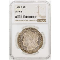 1889-S $1 Morgan Silver Dollar Coin NGC MS62