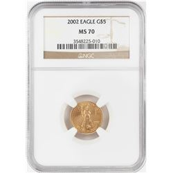 2002 $5 American Gold Eagle Coin NGC MS70