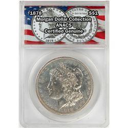 1878 $1 Morgan Silver Dollar Coin ANACS Certified Genuine