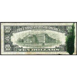 1981 $10 Federal Reserve Note New York Ink Smear ERROR