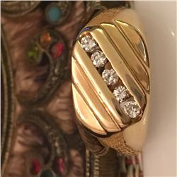 14KT Yellow Gold Men's Wedding Ring
