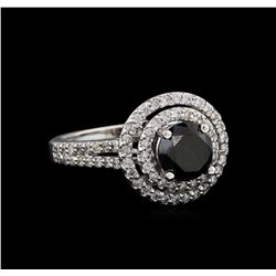 2.15 ctw Black Diamond Ring - 14KT White Gold