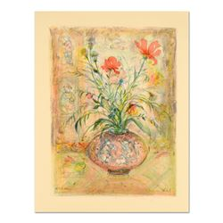 Thistle Rose and a Day Lily by Hibel (1917-2014)