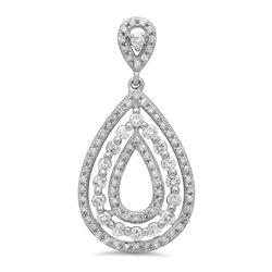 14k Gold 0.6CTW Diamond Pendant, (SI3/H)