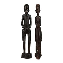 Pair of African Tribal Statues