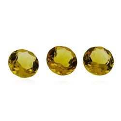 2.36 ctw.Natural Round Cut Citrine Quartz Parcel of Three