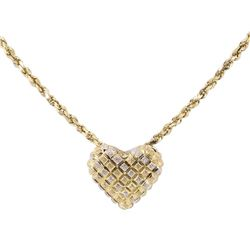 Heart Shaped Pendant with Chain - 14KT Yellow Gold