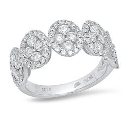 14K White Gold 1.32CTW Diamond Ring, (VS-SI1/VS-SI1/G)
