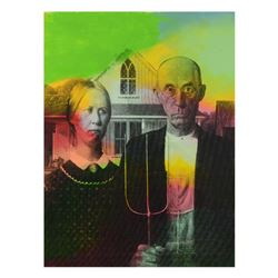 American Gothic by Steve Kaufman (1960-2010)