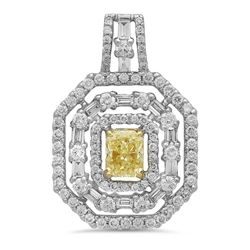 18k Gold 1.75CTW Diamond Earrings, (VS1-VS2/VS2/VS2 /G-H/G /Nat-yel)