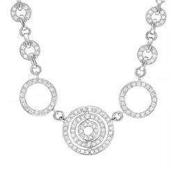 14k White Gold 1.50CTW Diamond Necklace, (SI2-I1/H-I)