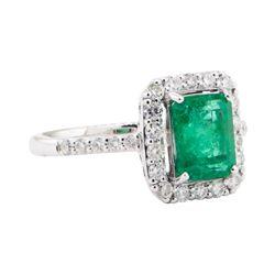 1.90 ctw Emerald and Diamond Ring - Platinum