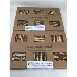 Old Fashioned Mini Chocolate Eclair Pies (2 x 6)