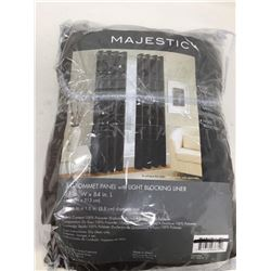Majestic Grommet Curtain Panel With Light Blocking Liner (51in x 84in)
