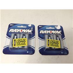 Rayovac 9V Batteries (2 x 2)