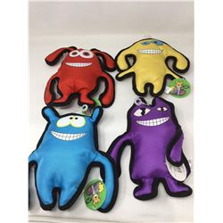 Lot of Squeekers Canvas Dog Toys (4)
