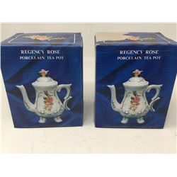 Regency Rose Porcelain Tea Pot (2sets)