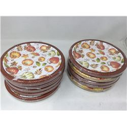 Lot of Disposable Autumn Plates