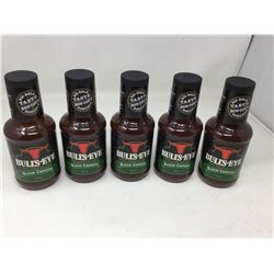 Lot of 5 x 425 Bulleye BBQ Sauce