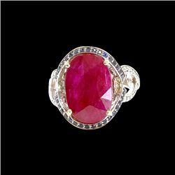 8.45ct Ruby 14K White Gold Ring