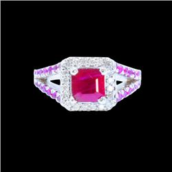 1.60CT NATURAL RUBY 14K W/G RING