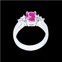 1.64CT NATURAL RUBY 14K W/G RING