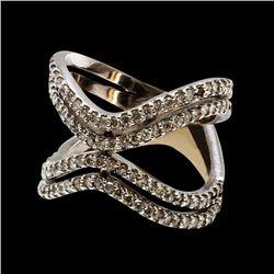 1.08CT NATURAL DIAMOND 14K WHITE GOLD RING