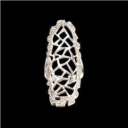 1.02ct Diamond 14K White Gold Ring