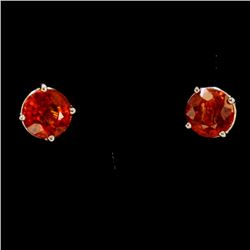 3ct About Rubellite 14K White Gold Earring