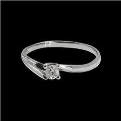 0.13CT NATURAL DIAMOND 14K WHITE GOLD RING