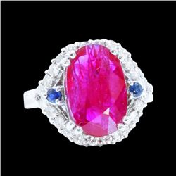 4.79CT NATURAL RUBY 14K W/G RING