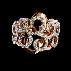 0.60CT NATURAL DIAMOND 14K ROSE GOLD RING