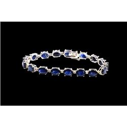24.67ct Blue Sapphire 14K White Gold Bracelet