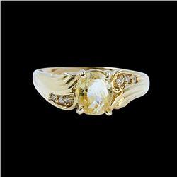 1.44CT NATURAL CEYLON SAPPHIRE 14K Yellow Gold Ring (NO HEAT)