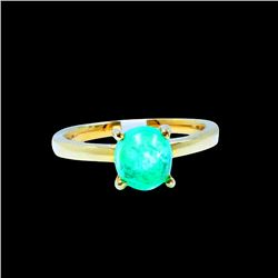 2.36CT NATURAL COLOMBIAN EMERALD 14K Y/G RING