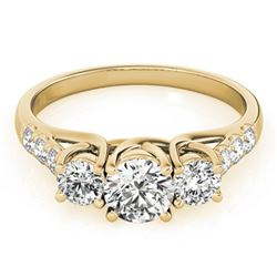 2 ctw Certified VS/SI Diamond 3 Stone Ring 18k Yellow Gold