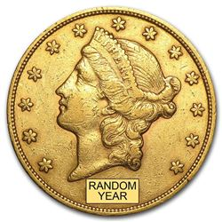 $20 Liberty Gold Double Eagle VF (Random Year)