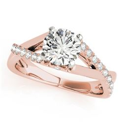 0.77 ctw Certified VS/SI Diamond Solitaire Ring 14k Rose Gold