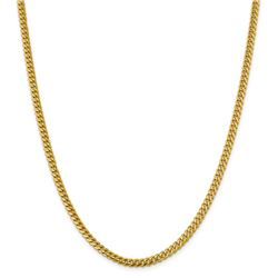 14k Yellow Gold 4.25 mm Solid Miami Cuban Chain - 22 in.